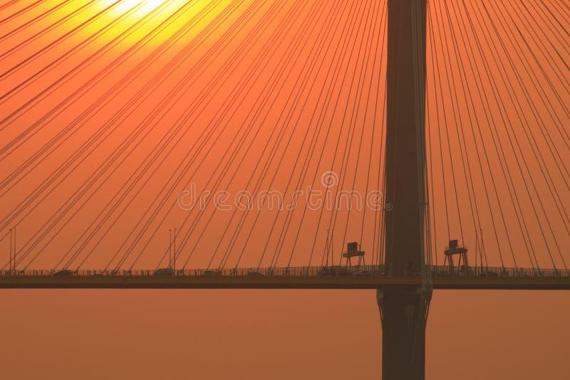 Ting Kau Bridge del 217 el sistema del sol de oct imagenes de archivo