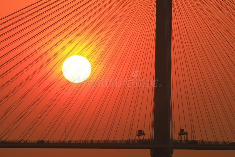 Ting Kau Bridge del 217 el sistema del sol de oct fotos de archivo libres de regalías