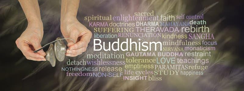 Ting Sha Buddhism Word Cloud royaltyfria bilder