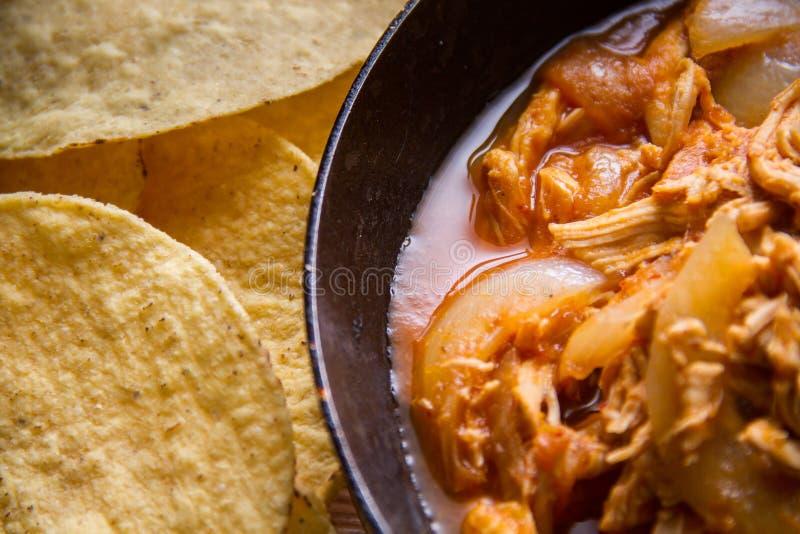 Tinga mexicano del pollo foto de archivo