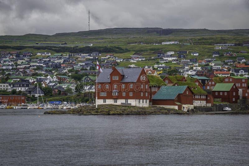 Tinganes Faroe Island arkivbild