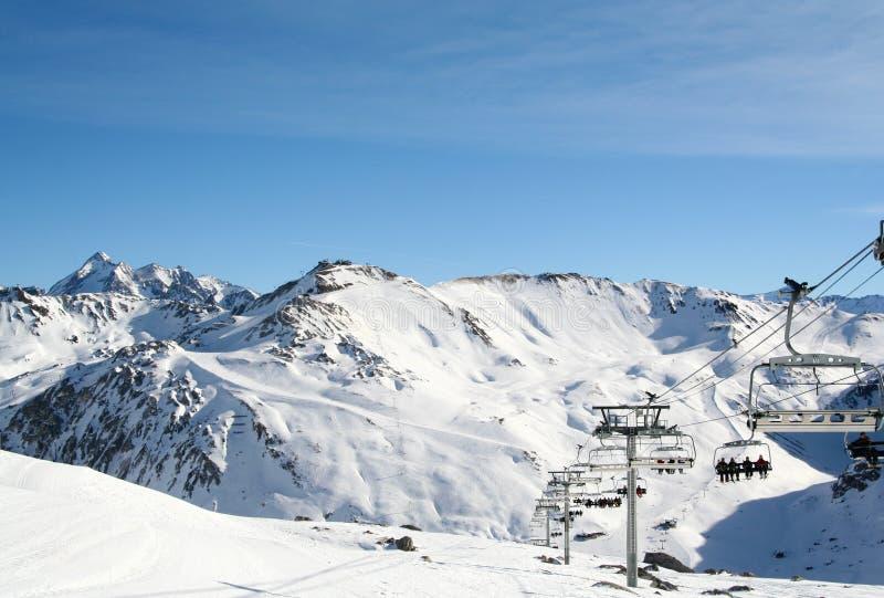 tinge лыжи курорта Франции стоковая фотография