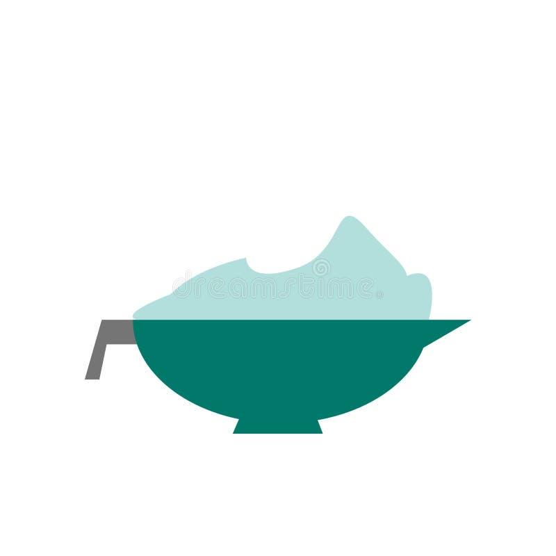 Tinge ikona wektor odizolowywającego na białym tle, Tinge znak royalty ilustracja