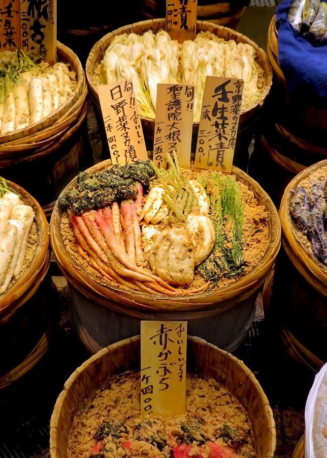 Tini delle verdure marinate giapponesi tradizionali fotografia stock