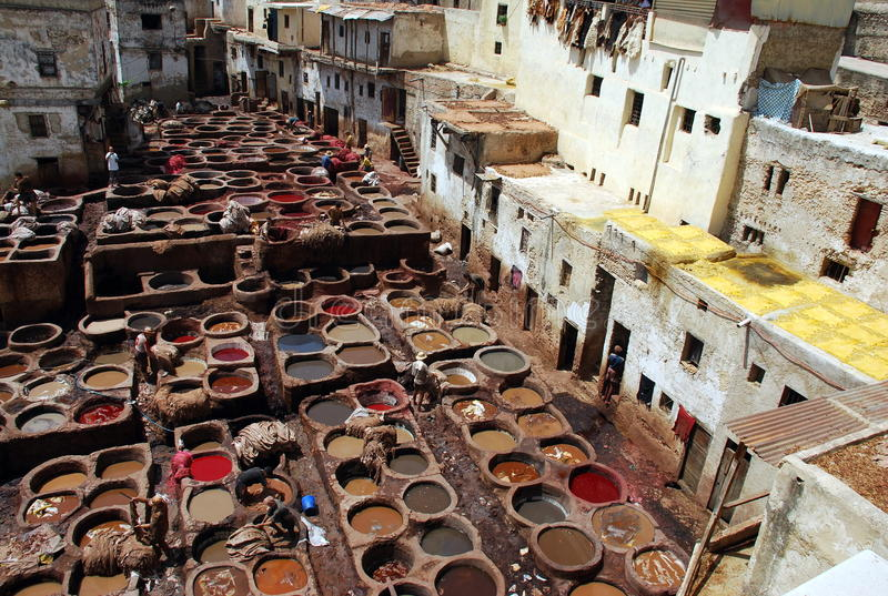 Tini a Fes, Marocco immagine stock libera da diritti