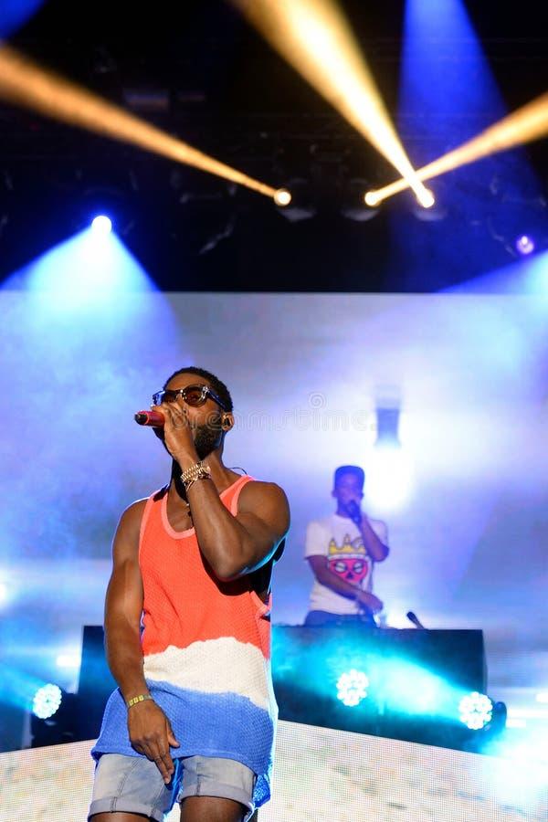 Tinie Tempah (English rapper) performance at FIB Festival. BENICASSIM, SPAIN - JULY 17: Tinie Tempah (English rapper) performance at FIB Festival on July 17 stock photography