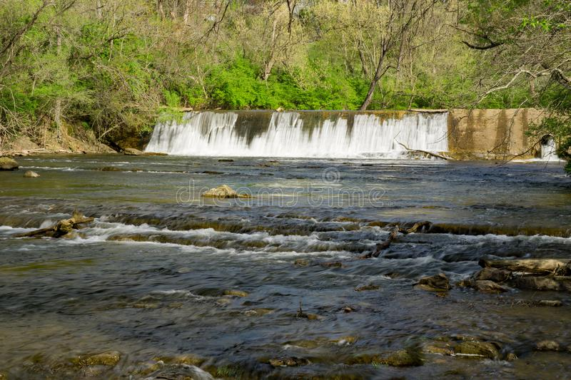 Tinker Creek Dam - 3. Tinker Creek Dam on Tinker Creek located in Roanoke, Virginia, USA stock images
