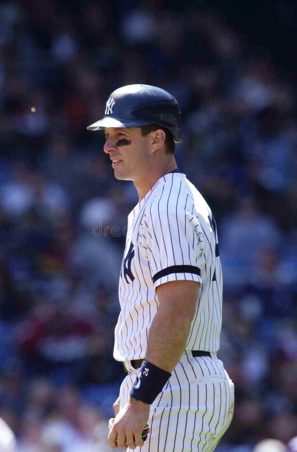 Tino Martinez of the New York Yankees. Tino Martinez waiting on deck to bat .Yankee Stadium, Bronx New York royalty free stock image