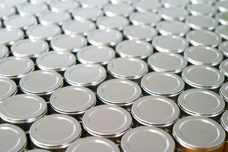 Tins stock photos