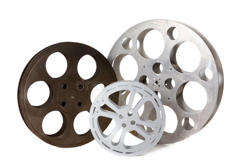 tins den tomma filmen hollywood för kanistern white royaltyfri foto