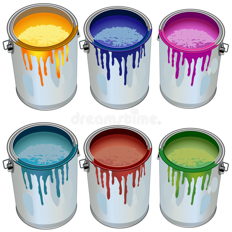 Download Tins With Paint Royalty Free Stock Photos - Image: 5563198