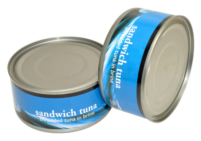 Tins Of Tuna Fish royalty free stock image