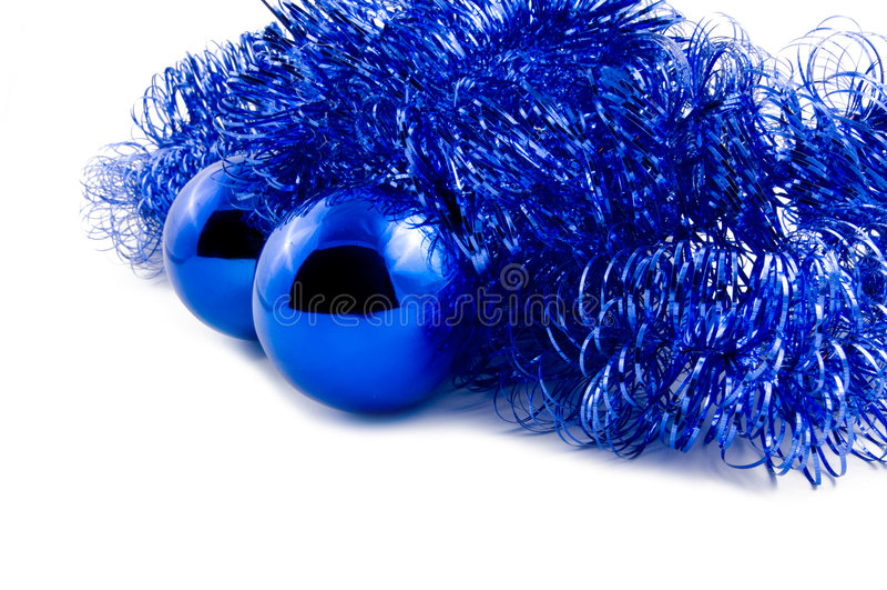 tinsel blus σφαιρών στοκ φωτογραφία με δικαίωμα ελεύθερης χρήσης