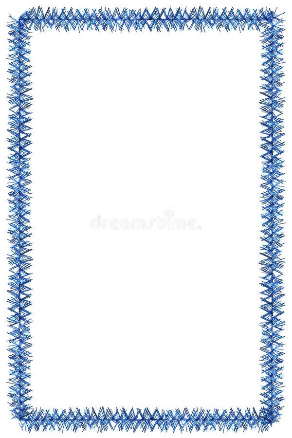 Tinsel frame royalty free stock photo