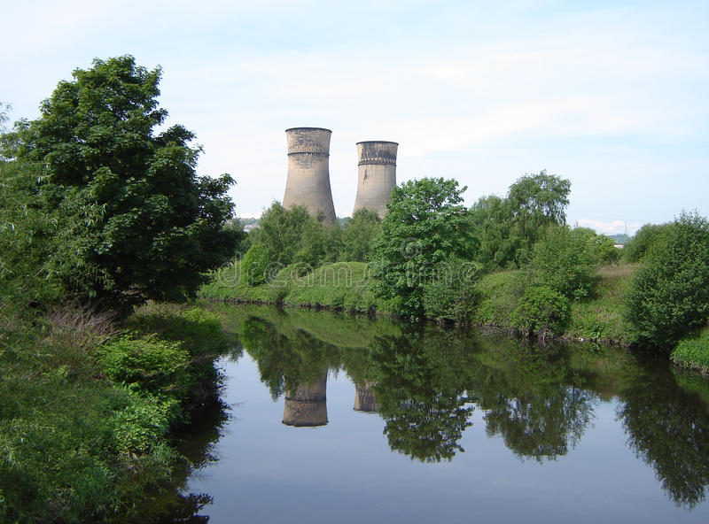 Tinsley Cooling Towers imagens de stock