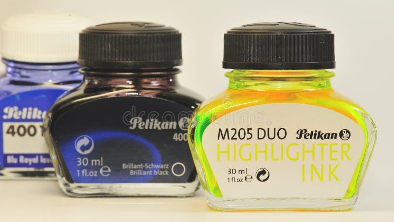 Tinta 2 de Pelikan imagem de stock