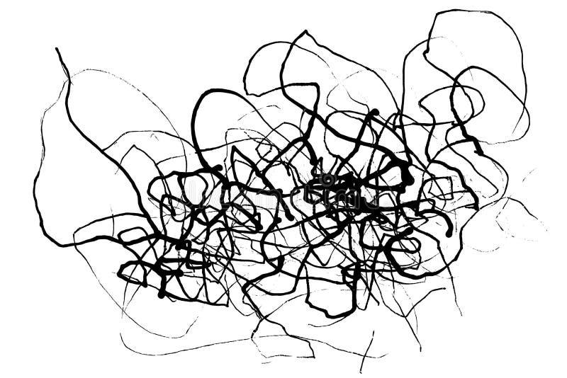 A tinta abstrata alinha o fundo do grunge ilustração stock