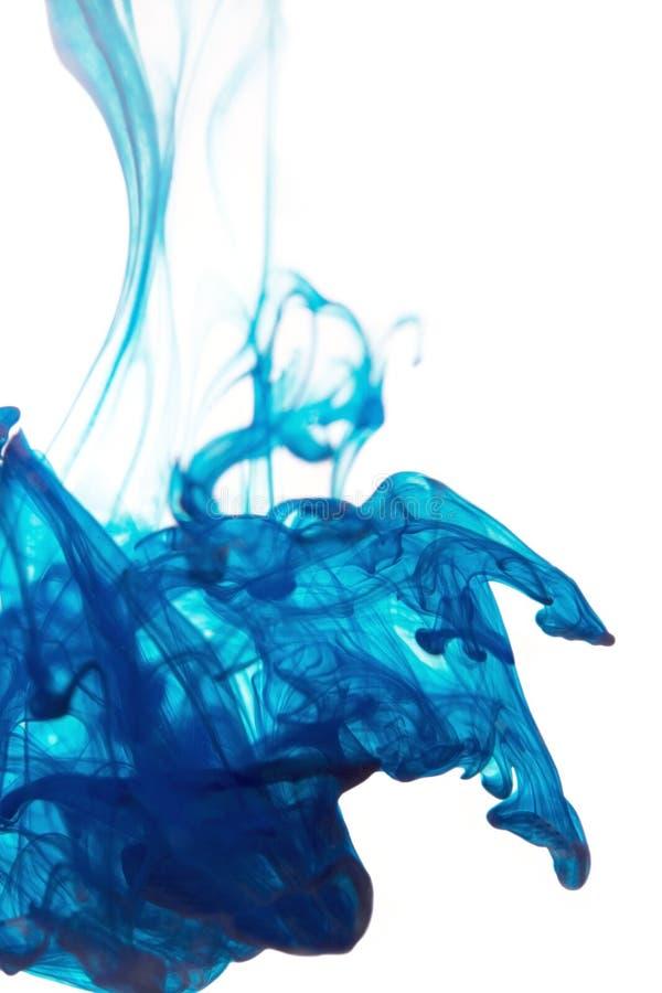 Tinta azul imagens de stock