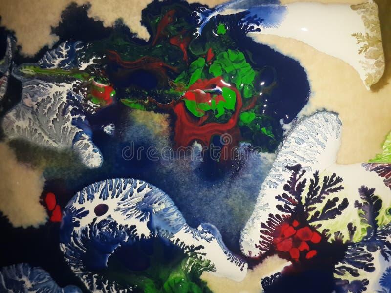 Tinta azul en la pintura foto de archivo libre de regalías