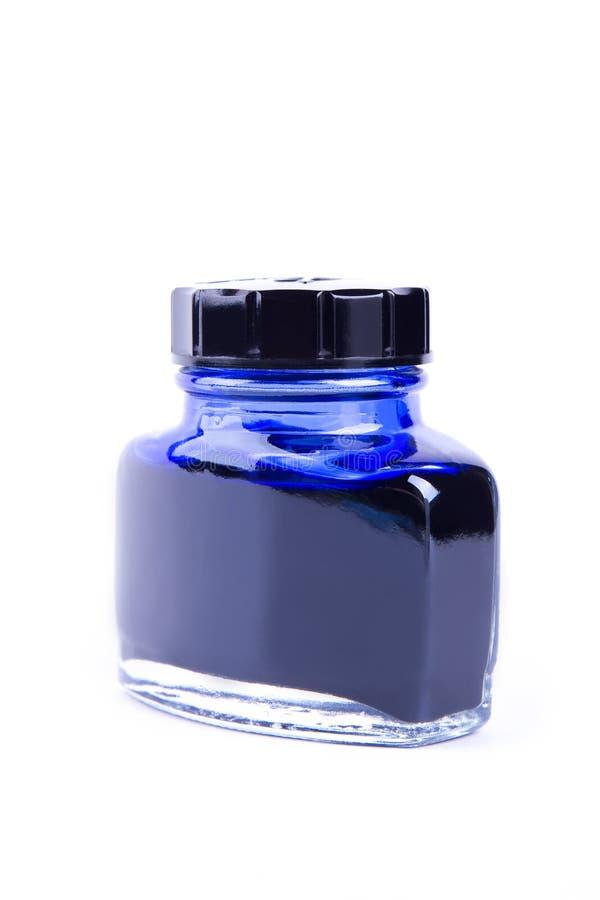 Tinta azul na lata imagem de stock
