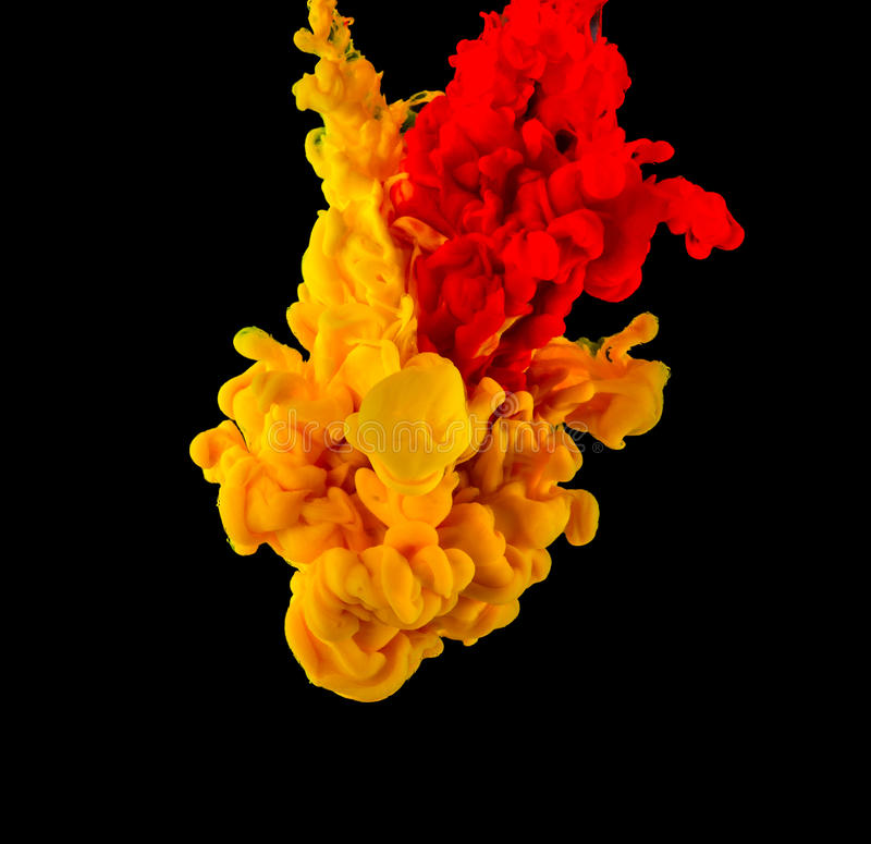 Tinta colorida na água foto de stock royalty free