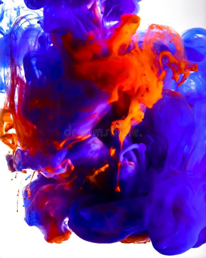 Tinta colorida que remolina en wate imágenes de archivo libres de regalías