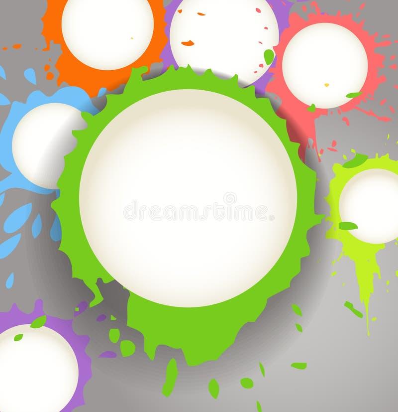 Download A Tinta Da Cor Borra Nuvens Do Discurso Ilustração do Vetor - Ilustração de inkblot, grunge: 29838586