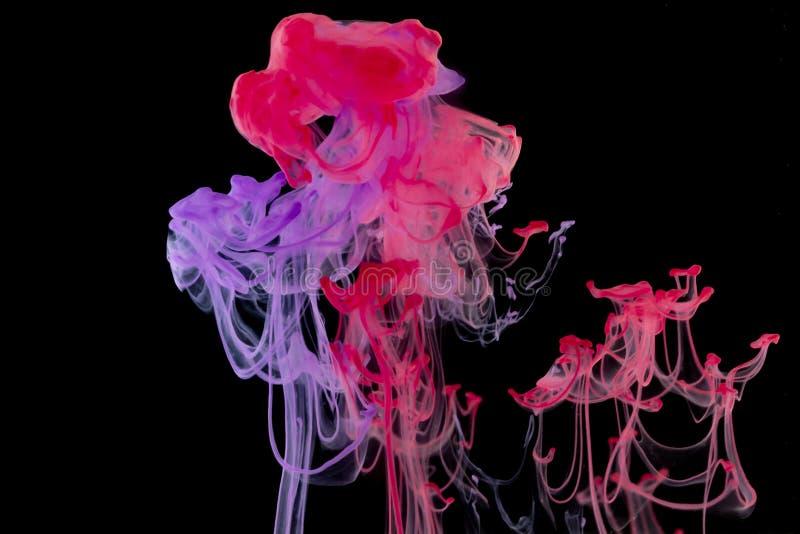 Tinta de fundo abstrata na água fotografia de stock