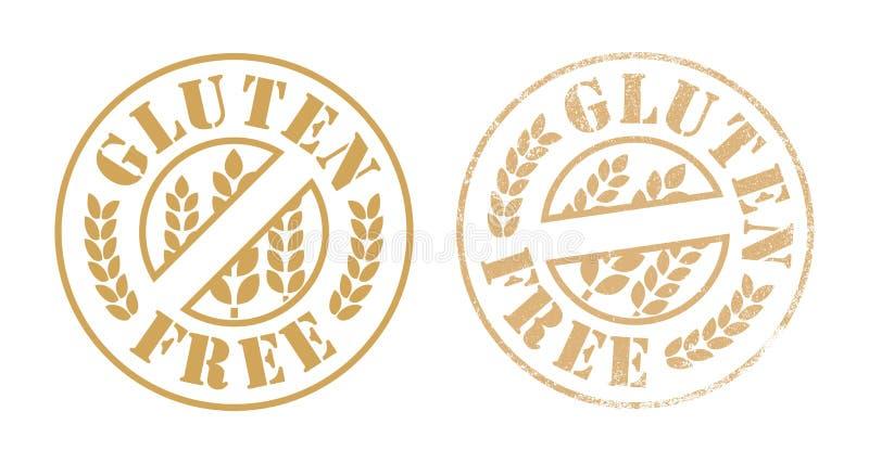 Tinta de sello de goma libre del gluten stock de ilustración