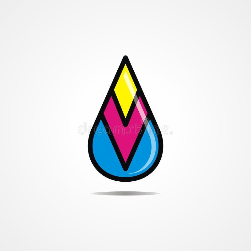 A tinta deixa cair Logo Vetora ilustração do vetor
