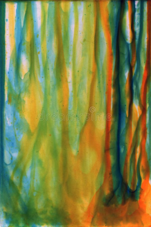 Tinta del alcohol, acr?lico, fondo abstracto colorido de la acuarela fotografía de archivo