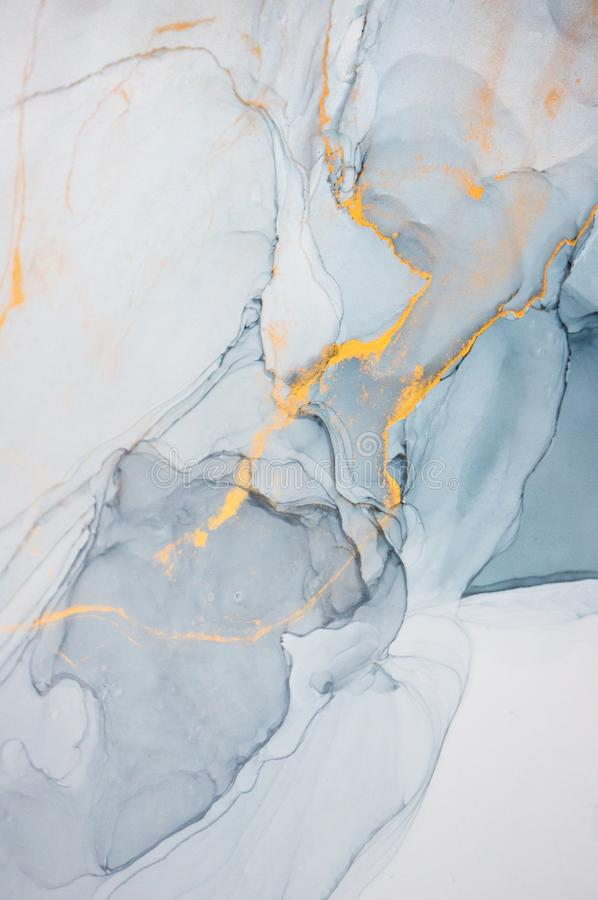Tinta del alcohol, pintura abstracta imagen de archivo