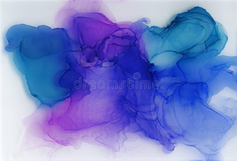 Tinta do ?lcool, acr?lico, fundo abstrato colorido da aquarela ilustração stock