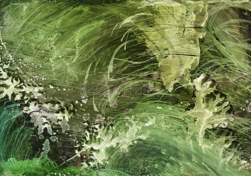 Tinta do ?lcool, acr?lico, fundo abstrato colorido da aquarela ilustração royalty free