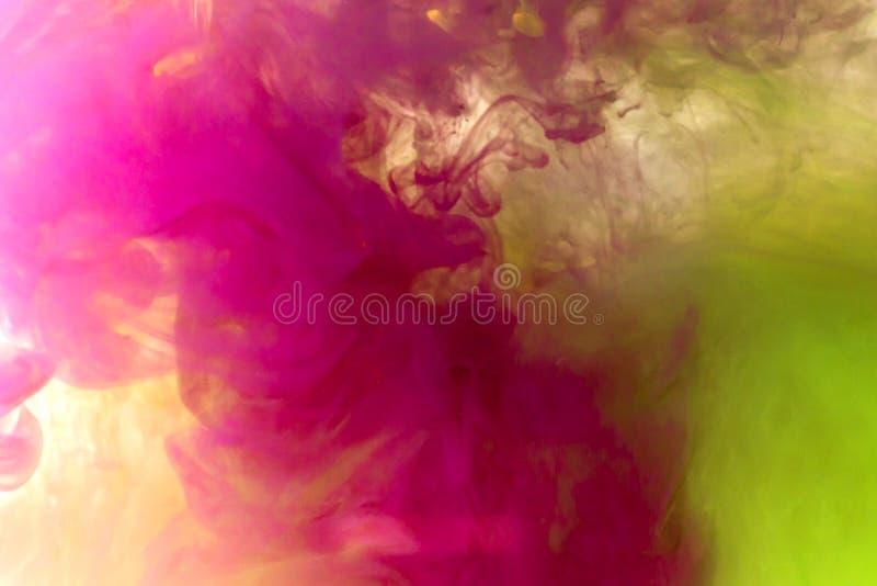Tinta e óleo abstratos de fundo imagens de stock