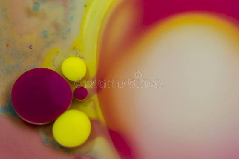 Tinta e óleo abstratos de fundo foto de stock