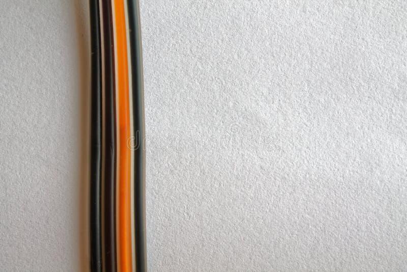 Tinta em tubules pequenos para o dispositivo defornecimento do plotador isolado no fundo branco foto de stock royalty free
