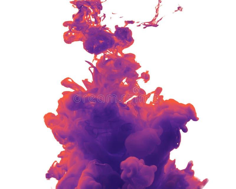 Tinta na água Respingo amarelo da tinta imagem de stock