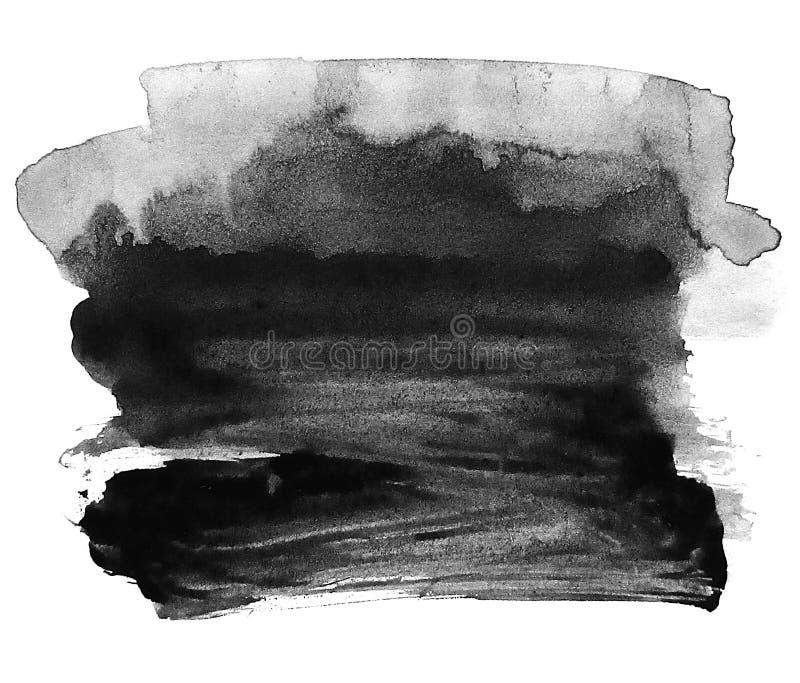 Tinta negra en el fondo blanco Abstracción libre illustration