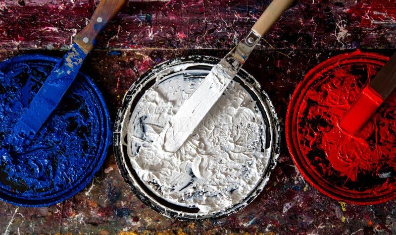 Tinta patriótica foto de archivo libre de regalías