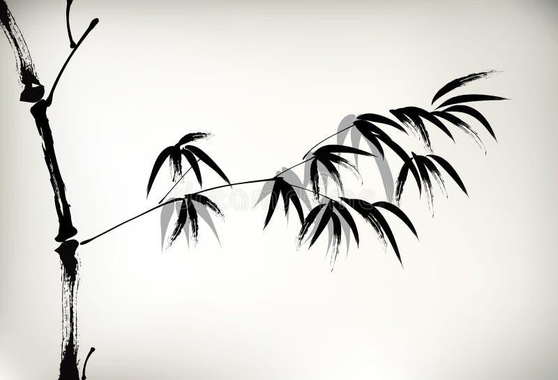 Tinta pintada de bambu ilustração royalty free