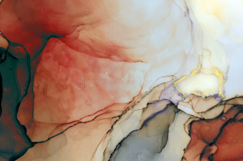 Tinta, pintura, abstrata Fundo abstrato colorido da pintura pintura de óleo Alto-textured Deta de alta qualidade ilustração do vetor