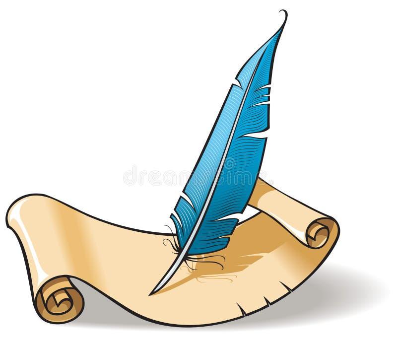 Tinta-pluma con el desfile stock de ilustración