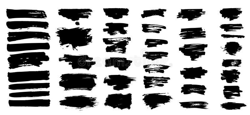 A tinta preta espirra ilustração stock