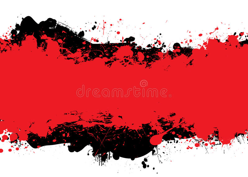 Tinta preta vermelha de n ilustração do vetor