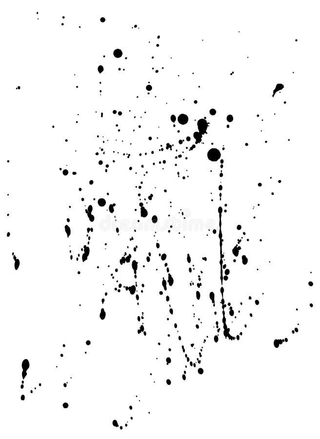 Tinta Spatters-3 (camino de +clipping, XXL) ilustración del vector