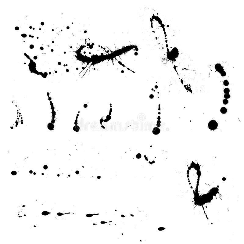 Tinta Splat ilustração stock