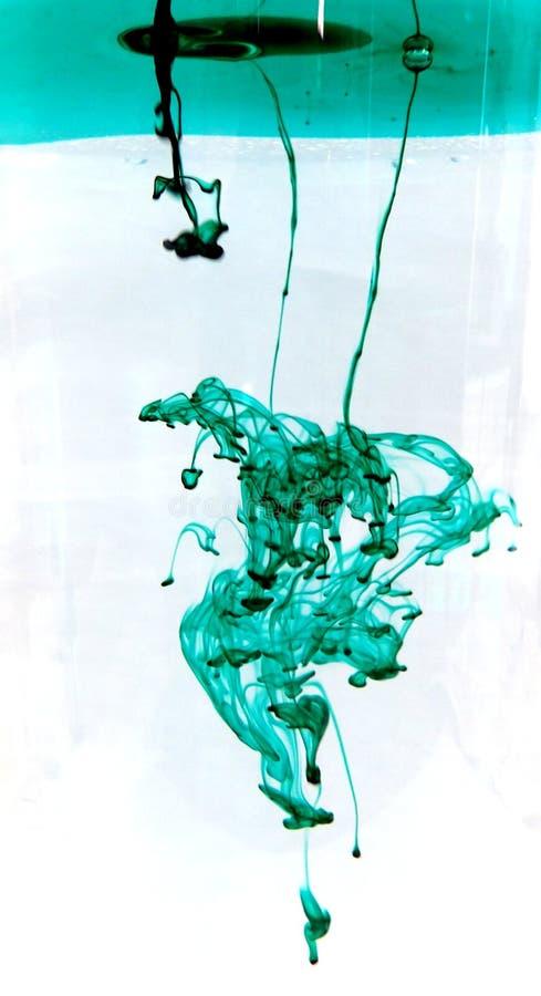 Tinta verde fotografia de stock