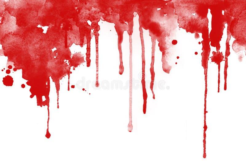 Tinta vermelha deixada cair ilustração do vetor