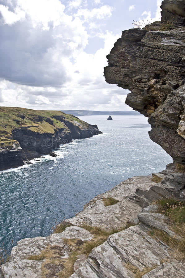 Download Tintagel Castle stock image. Image of cornwall, cliff - 33706589